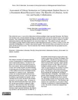 Thumbnail for Assessment of library instruction on undergraduate student success in a documents-based research course : the benefits of librar