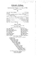 Thumbnail for Commencement Program 1902