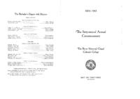 Thumbnail for Commencement Program 1943