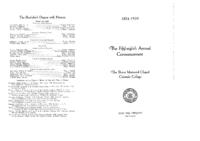 Thumbnail for Commencement Program 1939