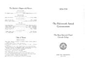 Thumbnail for Commencement Program 1938