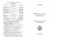 Thumbnail for Commencement Program 1940