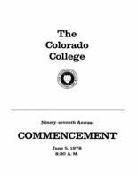 Thumbnail for Commencement Program 1978