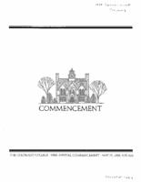 Thumbnail for Commencement Program 1989