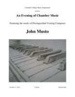 Thumbnail for [2014-10-13] An Evening of Chamber Music [by John Musto]