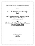 Thumbnail for [2013-05-10] Colorado College Chamber Chorus