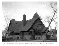 Thumbnail for F. P. Stevens photograph - All Souls Unitarian Church, southwest corner of Tejon and Dale Street