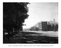 Thumbnail for F. P. Stevens photograph - North Cascade Avenue showing Alta Vista Hotel and Antlers Hotel