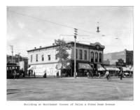 Thumbnail for F. P. Stevens photograph - Building at northeast corner of Tejon and Pikes Peak Avenue