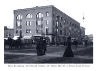 Thumbnail for F. P. Stevens photograph - Bank building, northwest corner of Tejon Street and Pikes Peak Avenue