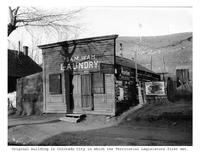Thumbnail for F. P. Stevens photograph - Original building in Colorado City in which the Territorial Legislature first met