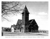 Thumbnail for F. P. Stevens photograph - Cumberland Presbyterian Church, corner of Cheyenne Avenue and Weber Street