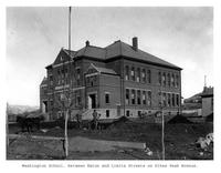 Thumbnail for F. P. Stevens photograph - Washington School, between Eaton and Limite Street on Pikes Peak Avenue
