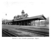 Thumbnail for F. P. Stevens photograph - Denver and Rio Grande passenger depot