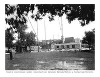 Thumbnail for F. P. Stevens photograph - County courthouse under construction between Nevada/Tejon and Cucharras/Vermijo