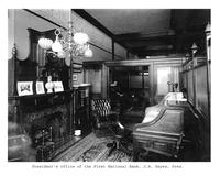 Thumbnail for F. P. Stevens photograph - President's office of the First National Bank, J. A. Hayes, President