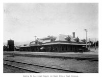 Thumbnail for F. P. Stevens photograph - Santa Fe Railroad Depot on East Pikes Peak Avenue