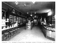 Thumbnail for F. P. Stevens photograph - Interior of F. L. Gutmann's drug store, southwest corner of Bijou and Tejon Streets, 1901
