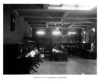 Thumbnail for F. P. Stevens photograph - Interior of telephone exchange