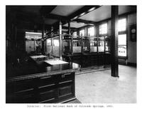 Thumbnail for F. P. Stevens photograph - Interior of the First National Bank of Colorado Springs, 1901