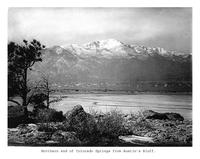 Thumbnail for F. P. Stevens photograph - Northern end of Colorado Springs from Austin's Bluff