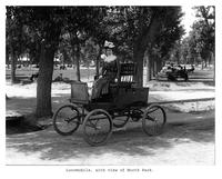 Thumbnail for F. P. Stevens photograph - Locomobile, with view of North Park