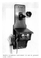 Thumbnail for F. P. Stevens photograph - Modern telephone instrument in use at present time, 1901