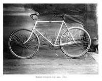 Thumbnail for F. P. Stevens photograph - Modern bicycle for men, 1901
