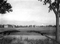 Thumbnail for F. P. Stevens photograph - Colorado College, Palmer Hall in the center with the library and Perkins Hall to the left