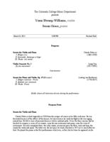 Thumbnail for [2015-03-08] Yumi Hwang-Williams, violin
