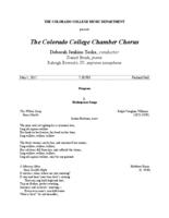 Thumbnail for [2015-05-01] Colorado College Chamber Chorus