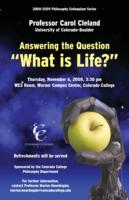 "Thumbnail for Answering the question ""What is life?"""
