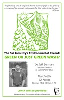 Thumbnail for The ski industry's environmental record : green or just green wash?