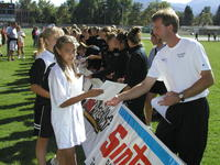 Thumbnail for Colorado College Women's Soccer. Team Autograph Day. 2003. Signing4
