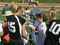 Thumbnail for Colorado College Women's Soccer. Team Autograph Day. 2003. Signing12