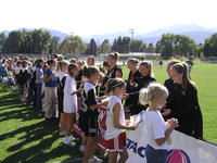 Thumbnail for Colorado College Women's Soccer. Team Autograph Day. 2003. Signing2