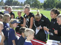 Thumbnail for Colorado College Women's Soccer. Team Autograph Day. 2003. Signing10