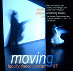 Thumbnail for Moving: Faculty Dance Concert '07. Poster.