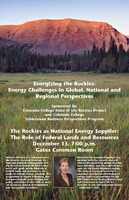 Thumbnail for The Rockies as national energy supplier: the role of federal lands and resources