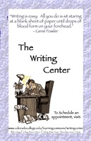 Thumbnail for The Writing Center. Poster.
