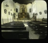 Thumbnail for Old San Miguel Church. Interior 1925: A33