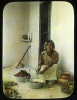 Thumbnail for Women preparing chile pepper. 1908: A65