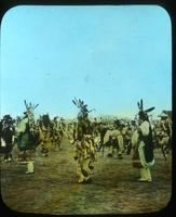 Thumbnail for Hunters in pursuit. 1910. Rounding up the game, Buffalo Dance: A84