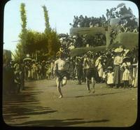 Thumbnail for Runners passing each other. 1902. Relay race: B14