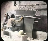 Thumbnail for Hopi weaver. A primitive loom: B29