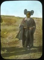 Thumbnail for Hopi girl at foot of trail to Mishongovi. 1899. Typical costume: B51