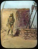 Thumbnail for Old Crier Supela at entrance of Walpi Snake kiva (photo of drawing): C1
