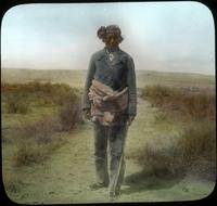 Thumbnail for Desert near Walpi. Hopi man. 1918: C31