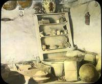 Thumbnail for Interior of Walpi house with shelves, baskets, etc. 1918: C36