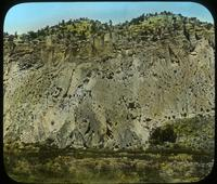 Thumbnail for Cliff with talus dwellings and pueblo before excavation: C89